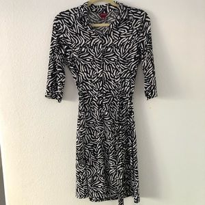 Black and White Button Merona Dress with Collar XS